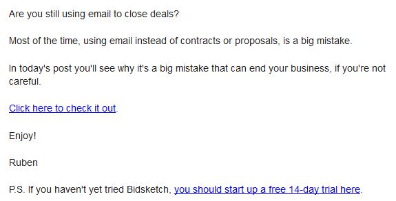 bidsketch-newsletter-example