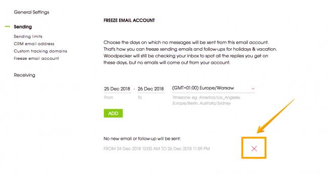 where can i freeze email account screenshot