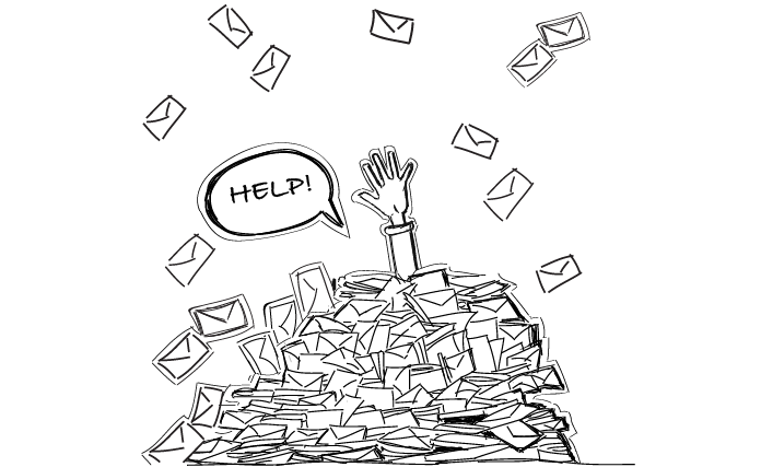illustration how to handle emails effectively