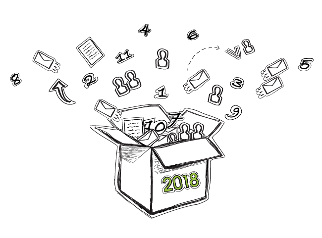 Email Outreach for 2018 box of ideas