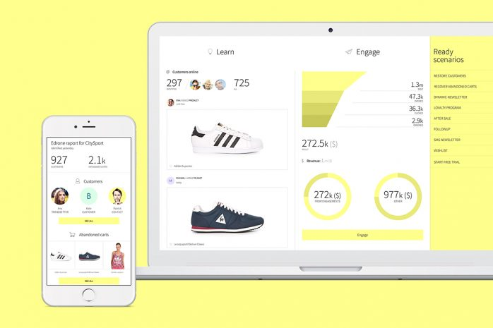 desktop and mobile view of e-commerce