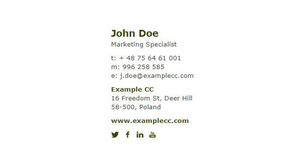 sales email signature