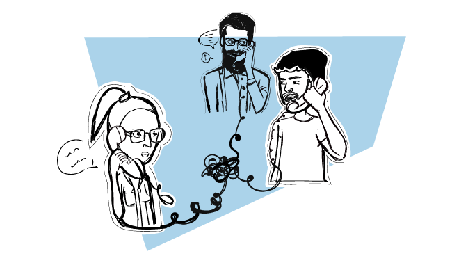 a networking follow up illustrations of people talking on a phone