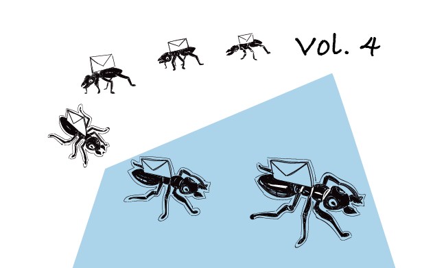 illustration with ants carring follow-up emails