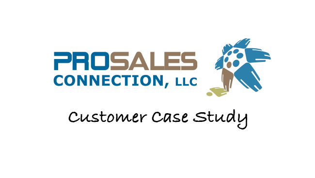 logo of ProSales Connection for the case study at Woodpecker blog