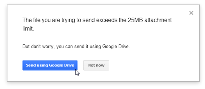Gmail has a 25 MB file attachment limit — exceeding it might trigger bouncing