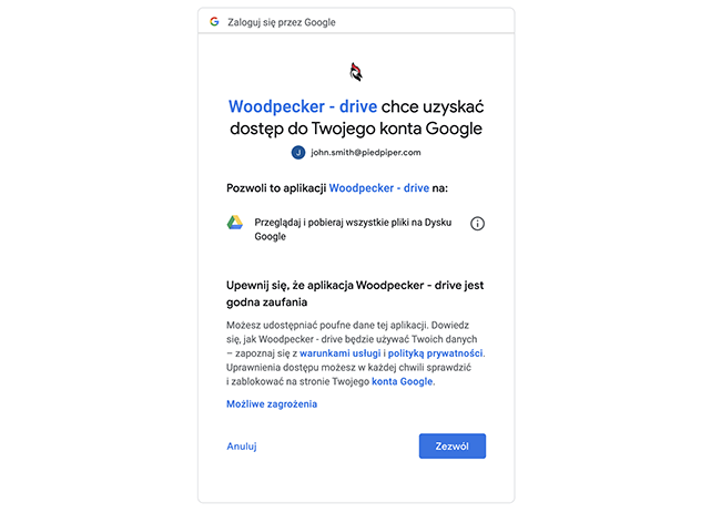 integrating google sheets with woodpecker