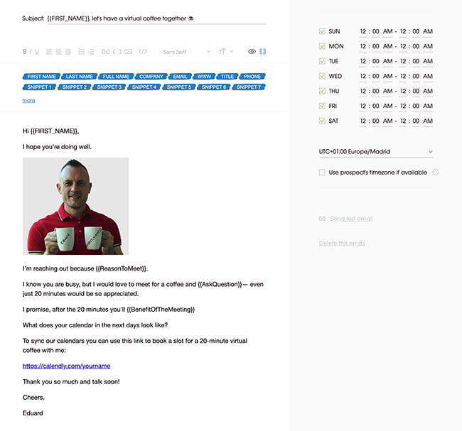 email template with image