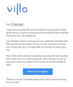 Villo email day 14