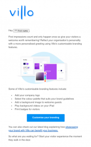Villo email day 3