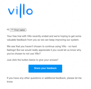 Villo email day 44