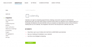 Calendly native integration connect