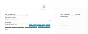 LinkedIn manual task in a Woodpecker multichannel campaign